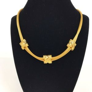 Vintage | Gold Tone Woven Chain Necklace